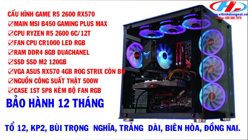 CẤU HÌNH GAME R5 2600 RX570 ROG STRIX